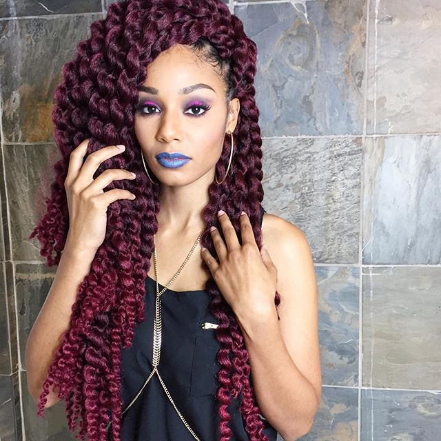 ... for Hair on Pinterest Faux Locs, Box Braids and Short Box Braids