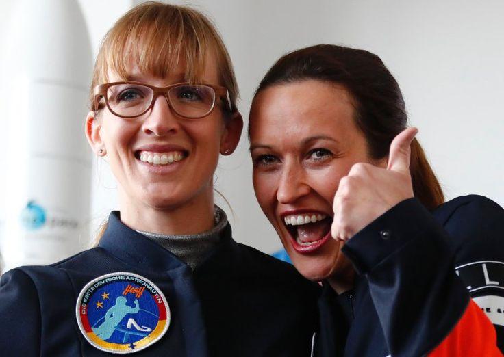 Die Siegerinnen: Insa Thiele-Eich und Nicola Baumann haben sich im Finale der Astronautinnen-Anwärter durchgesetzt