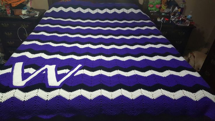 A friend asked me to make a blanket for her nephew. So I went on pinterest and found a few team themed pictures. This was the one she liked and got for his christmas gift
