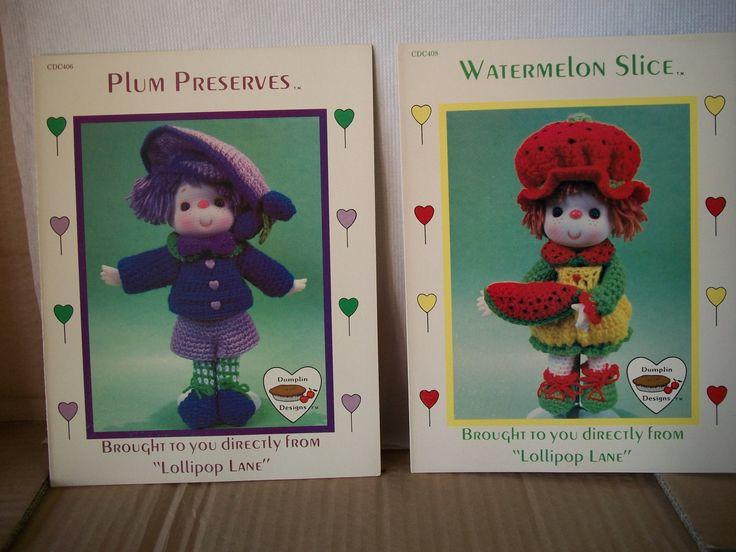 "Sweet Treat Themed ""Lollipop Lane"" Crochet Patterns for Yarn Hair Dolls by mooglamom on Etsy"