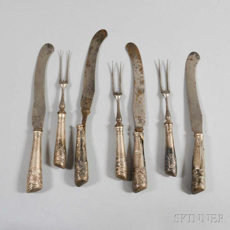 George III Sterling-handled Knife and Fork Set in Shagreen Case - Price Estimate: $300 - $500