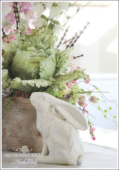 Easter Decorating Ideas -bunny and cabbage