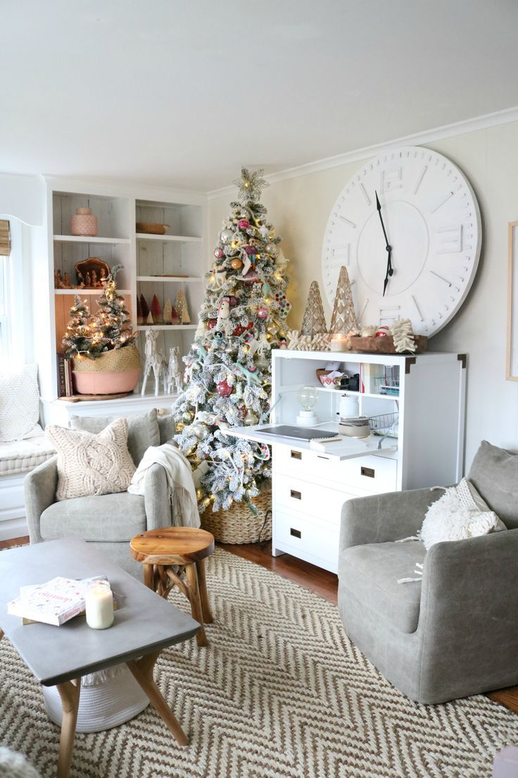 How To Manage Messy Cords And Papers Nesting With Grace Christmas Decorations Living Room Modern Christmas Living Room Christmas Living Rooms #organizing #small #living #room