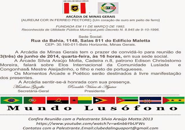 ACADEMIA DE LETRAS DO BRASIL-SEÇÃO MINAS GERAIS-(21-9-2010) Fundada:11-6-2011-Instalação:23-08-2011: Palestra de Silvia Araújo Motta 3-Jun-2015 na ARCÁ...