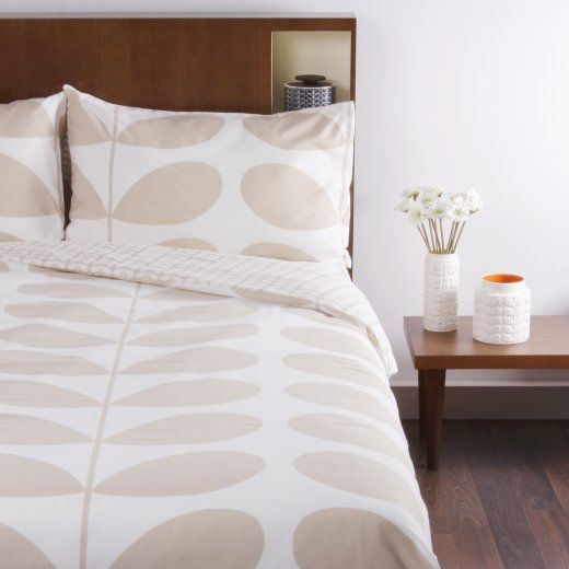 Orla Kiely Giant Stem Flannel Clay Double Duvet Cover