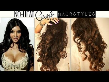NO-HEAT, Kim Kardashian Curls Hair Tutorial | Hairstyles #matrix #lorealparis #noheat #curls Get more amazing hair tips n  #tutorials at http://bellashoot.com!!