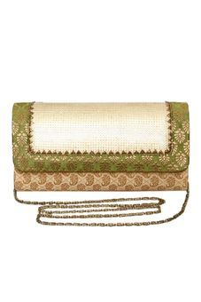 Beige Clutch Bag With Ornate Flap by Neonia, Clutches & Potlis  #bags #clutches #potlis #handbags #slingbags #wedding #troussoue #casual #embroidery #prints #colors #themes #fashion #pretty #cutebags #embellishedbags #metal #boxclutches #trendybags #indianfashion #vogue #ethnicbags #stylishbags #embroideredclutches #gottapattiwork #cocktailpurses#
