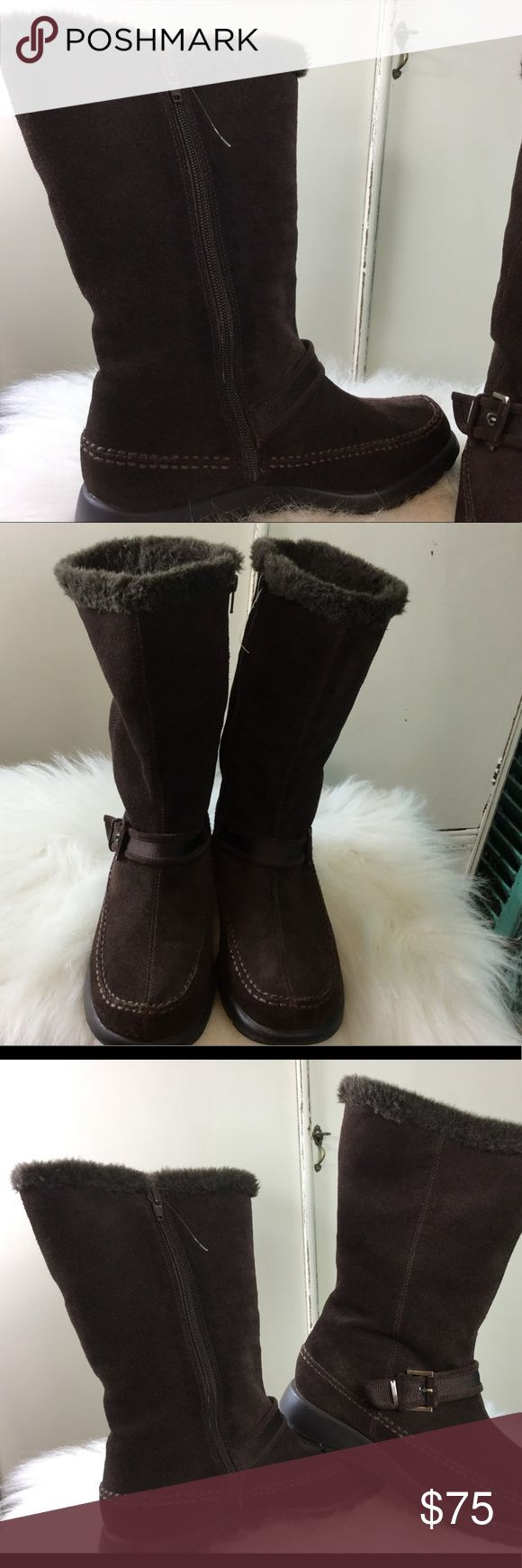 NWOT Aerosols Leather Squish Squash Boots NWOT These are Absolutely the Warmest Most Comfortable Boots I Have Ever Had on my Feet.  The Squish Squash Technology Feels Like you are Walking on a Cloud AEROSOLES Shoes Winter & Rain Boots