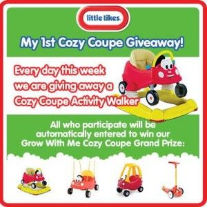 Little Tikes Grow With Me Cozy Coupe Giveaway - Coupon Clipinista