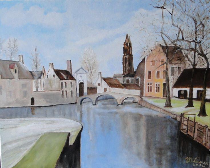 Brugge, Riet de Pauw https://fr.pinterest.com/rietdepaauw/schilderijen-van-riet-de-paauw/