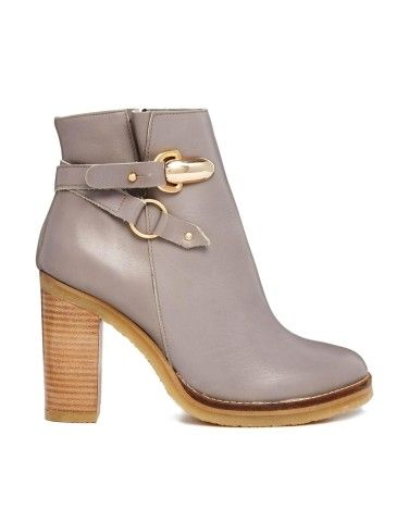 River Island   River Island Sal Detail Block Heel Ankle Boots at ASOS