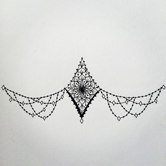 Sternum Tattoo Design on Pinterest | Sternum tattoo Mandala sternum ...