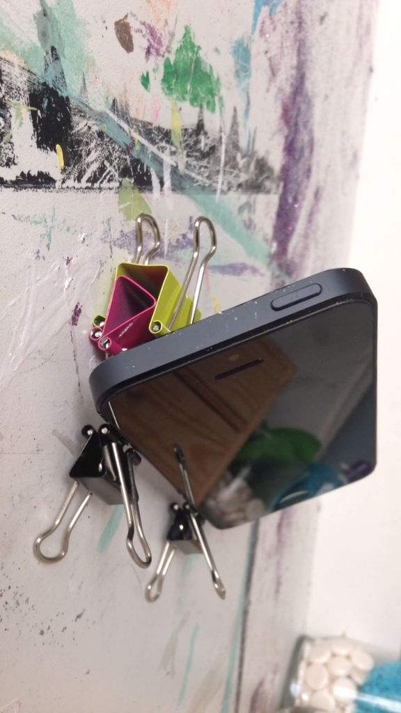 Binder Clip Phone Stand Tutorial