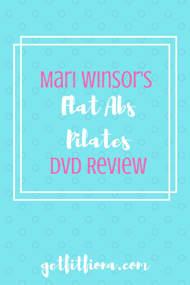 In Mari Winsor's Flat Abs Pilates DVD Review I share my thoughts on what I liked and what I didn't like.
