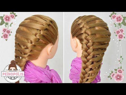 7 Peinados Faciles Y Rapidos Para Cabello Corto o Largo Trenzas (P2) | Peinado 2015 - 2016 ♥ Yencop - YouTube