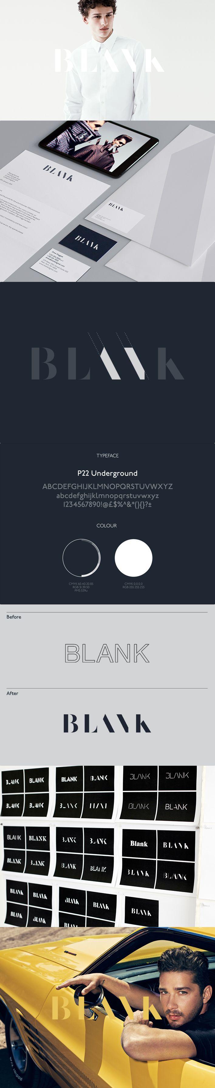 BLANK #branding #logotipo espectacular el gusto para la simplificación // Moving Brands