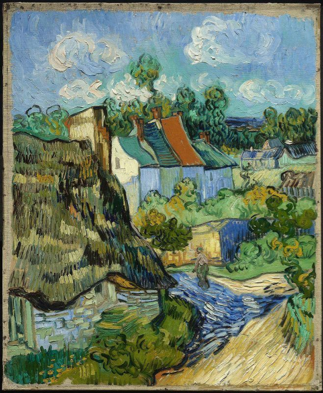 """Houses in Auvers"", - van Gogh - oil on canvas, 75.6 x 61.9 cm, May, 1890.  Museum of Fine Arts, Boston, USA."