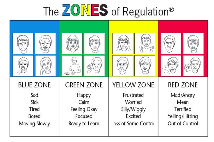 The zones of regulation is used to help with dealing with emotions and how to shoe them to others.
