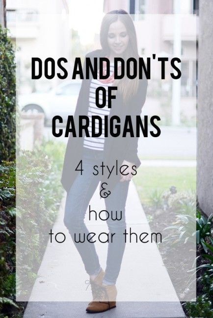 The Dos and Dont of Wearing Cardigans