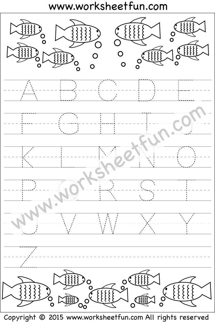 Uppercase A Handwriting Worksheet (trace 1, write 1)