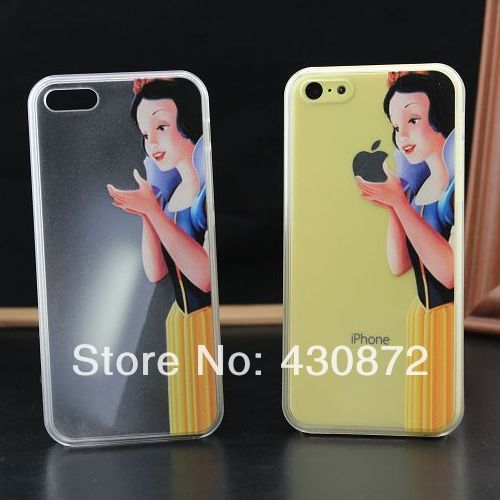 for iphone 5c case Fanny Transparent Snow White Hard cell phone cases covers to iphone5c US $3.55