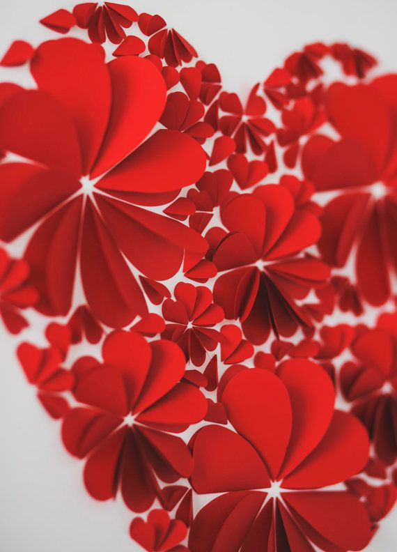Wedding Guest Book Alternative  3d wedding Heart  by MioGallery, $190.00
