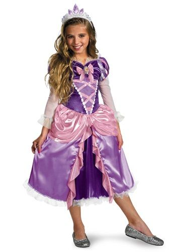 Deluxe Girls Tangled Rapunzel Costume - Disney Princess Costumes for Toddlers