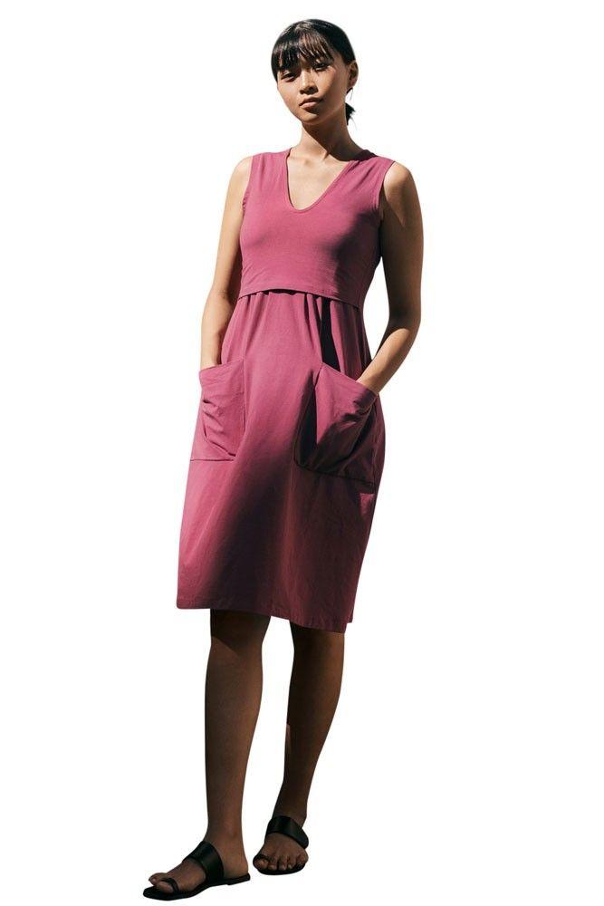 855faf64607 The Depot Organic Maternity   Nursing Dress (Soft Cherry) in 2019 ...