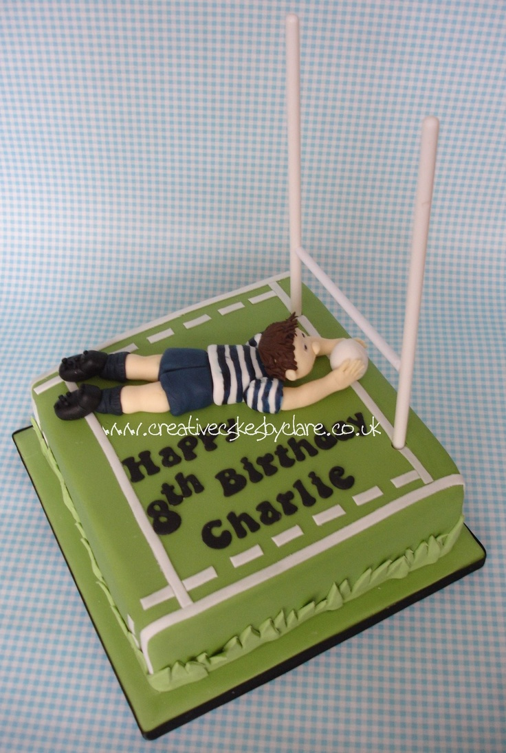 Rugby Try cake