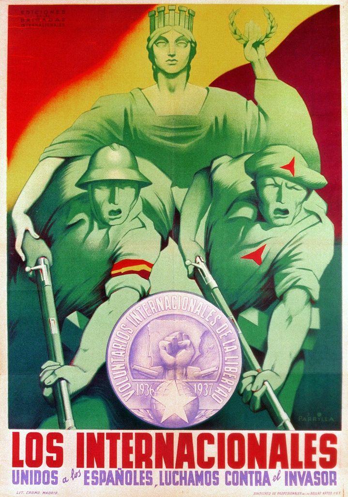 Internationalists, unite with Spanish people. (International Brigades, 1937)