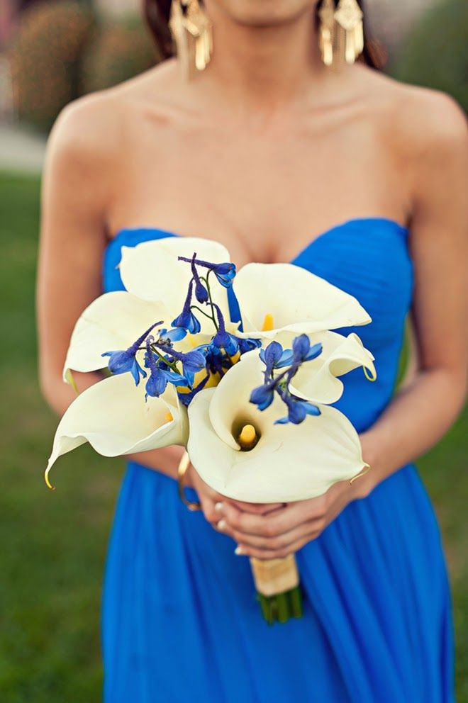 Vibrant Blue Long Beach Wedding - Belle the Magazine . The Wedding Blog For The Sophisticated Bride