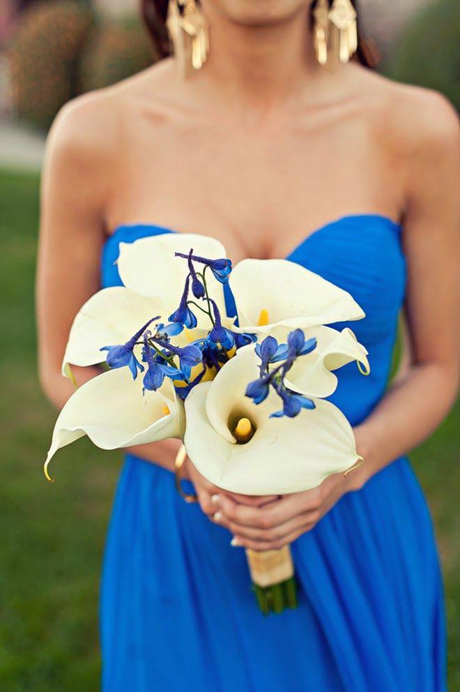 """Something Blue"" #wedding bouquet ~ Melvin Gilbert Photography | bellethemagazine.com"