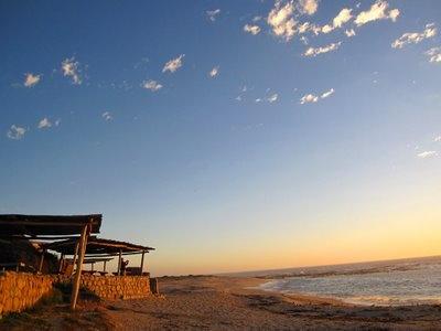 Muisbosskerm. Open air restaurant south of Lambert's Bay, West Coast of South Africa