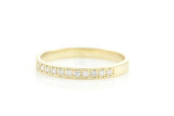 Diamond Band Wedding Band Half Eternity Ring Half Eternity