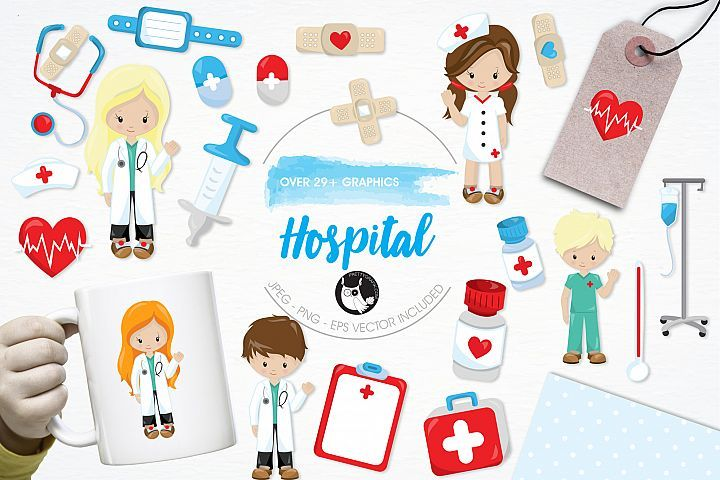 Hospital graphics and illustrations