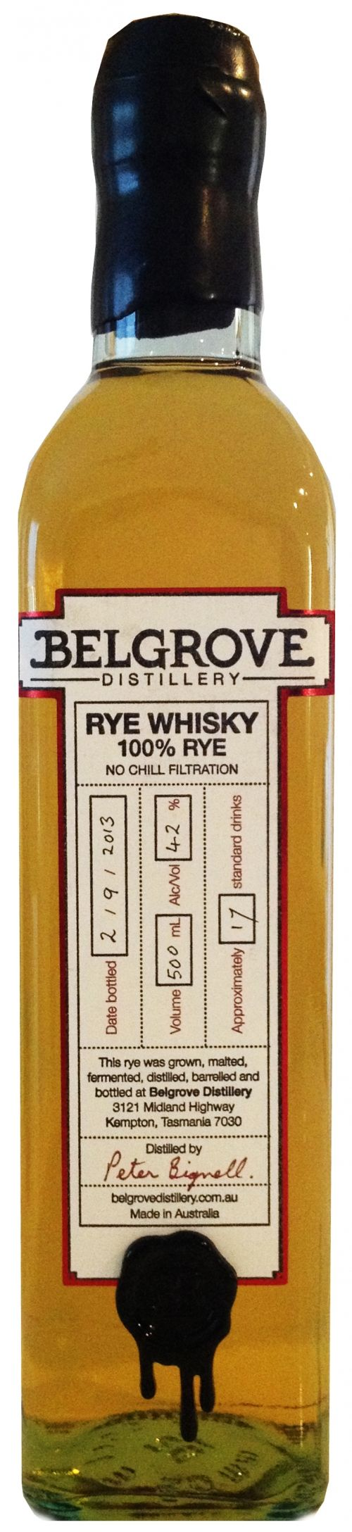 The Belgrove Distillery is the only Rye Distillery in Australia. Located North of Hobart Belgrove Distillery is THE ONLY BIODIESEL POWERED S...