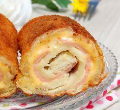 Ρολάκια με τυρί ζαμπόν !! Συνοδευόμενα με καταπληκτική διαφορετική σαλάτα !! ~ ΜΑΓΕΙΡΙΚΗ ΚΑΙ ΣΥΝΤΑΓΕΣ