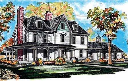 Gothic Victorian Style House Plan
