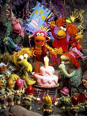 Fraggle Rock characters look so creepy now, but I loved the show!