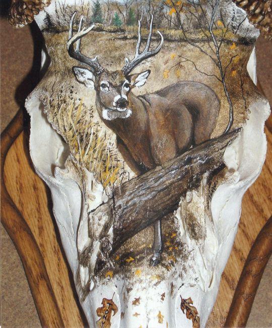 painted deer skulls   Trophy Bone Artistry - skull painting