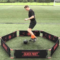 Quick Feet Soccer Trainer Videos. Shows drills and upgrade options.