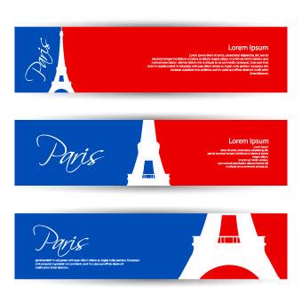 Banner of travel elements vector 01