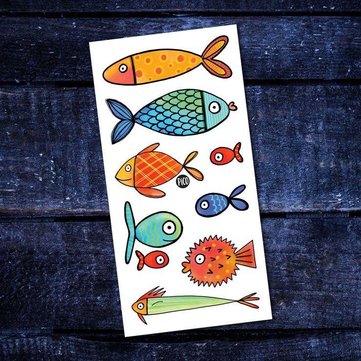 Les poissons – PiCO Tatoo Fish Temporary Tattoos