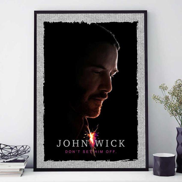 John Wick Movie Poster, John Wick Chapter 2 Print, John Wick Wall Art, Keanu Reeves Is John Wick (N4047) by PointDot on Etsy