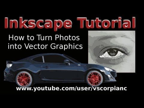 Inkscape Tutorial How to Convert Image to Vector Graphics (Trace Bitmap) by VscorpianC - YouTube