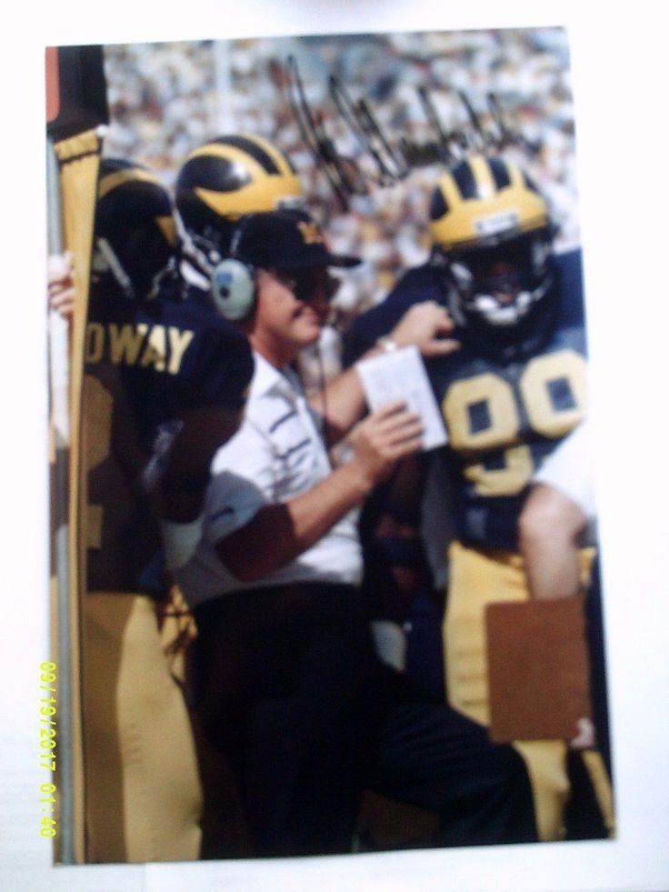 Bo Schembechler Autographed 8 x 12 University of Michigan Wolverines Coach HOF   eBay