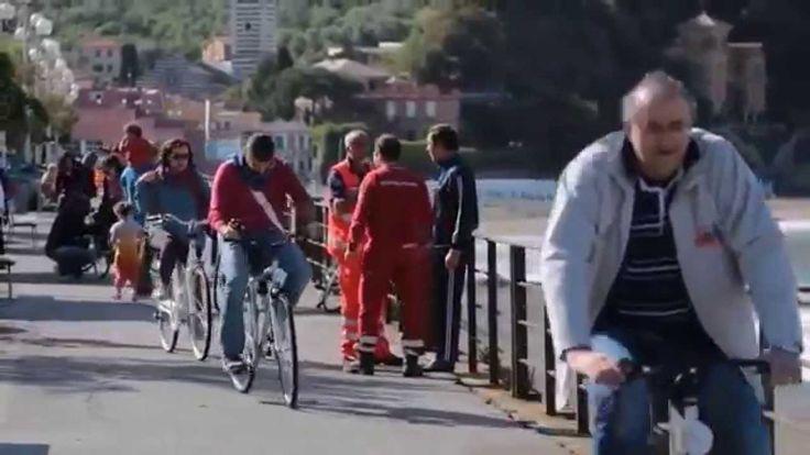 in bici lungo la pista ciclabile tra Levanto, Bonassola e Framura