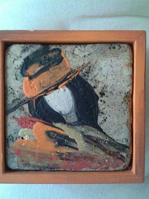 Arancio dipinta su travertino!