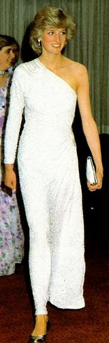 April 16, 1983: Princess Diana at a Dinner & Ball at the Melbourne Hilton Hotel, Melbourne, Victoria.