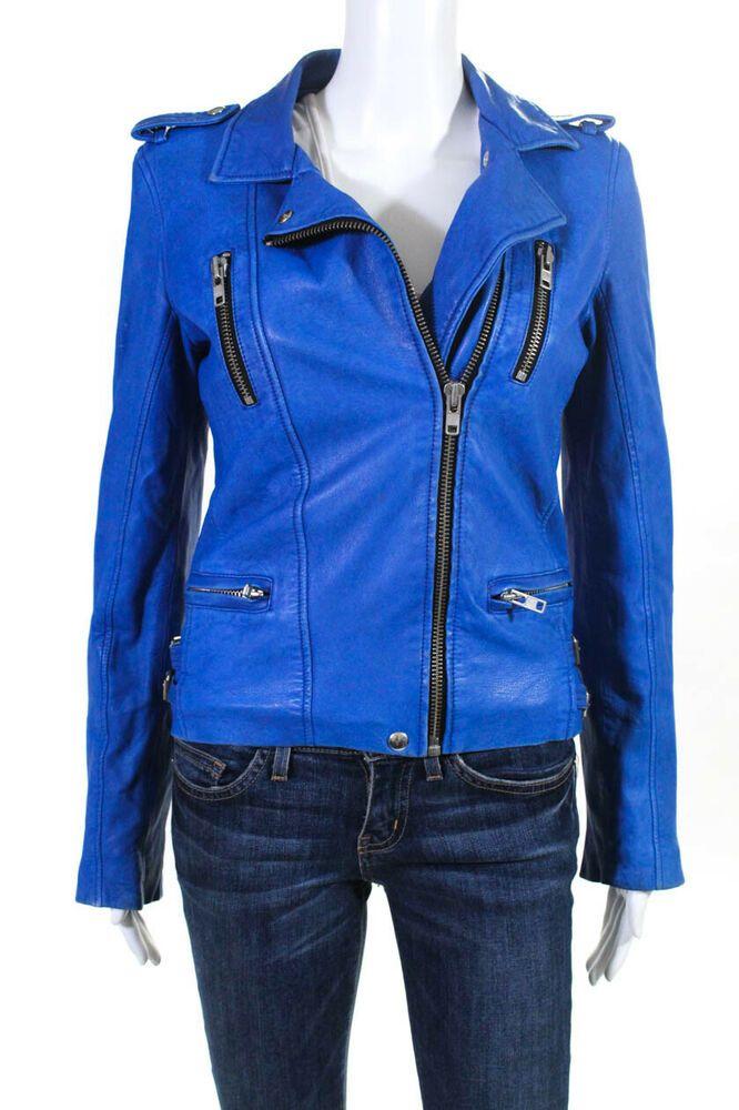 eBay Sponsored) IRO Womens Asymmetrical Full Zip Leather